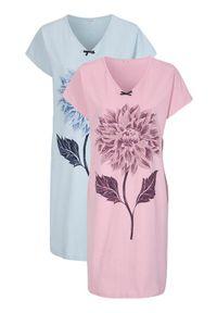 Cellbes Koszula nocna 2 Pack błękitny jasnoróżowy female niebieski/różowy 54/56. Kolor: wielokolorowy, różowy, niebieski. Długość: krótkie
