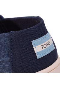 Niebieskie półbuty Toms z cholewką, na spacer, na rzepy