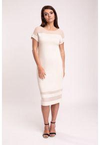 Beżowa sukienka Vito Vergelis elegancka