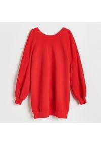Reserved - Dzianinowa sukienka - Czerwony. Kolor: czerwony. Materiał: dzianina