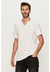 Biały t-shirt PRODUKT by Jack & Jones casualowy, na co dzień, krótki
