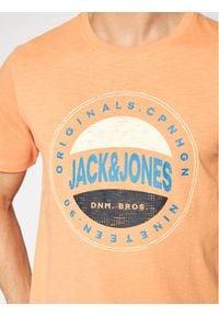 Jack & Jones - Jack&Jones T-Shirt Christensen 12185392 Pomarańczowy Regular Fit. Kolor: pomarańczowy