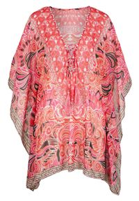 Różowa tunika bonprix na plażę, długa, elegancka