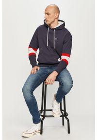 Niebieska bluza nierozpinana Tommy Jeans na co dzień, casualowa, z kapturem