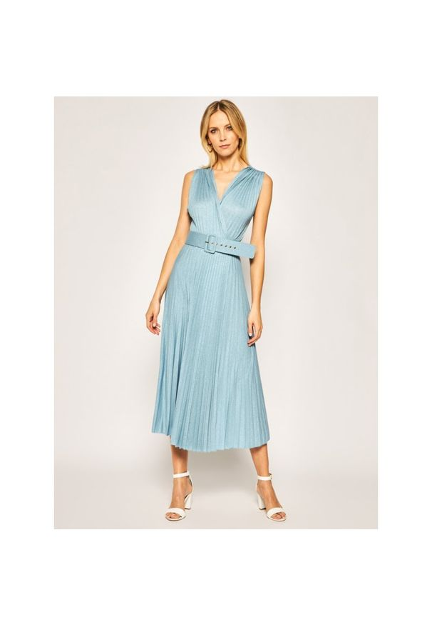 Niebieska sukienka koktajlowa Marella wizytowa