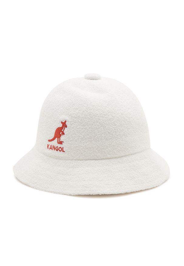 Kangol - Kapelusz KANGOL - Bucket Big Logo Casual K3407 White WH103. Kolor: biały. Materiał: materiał, poliester, nylon, akryl. Styl: casual