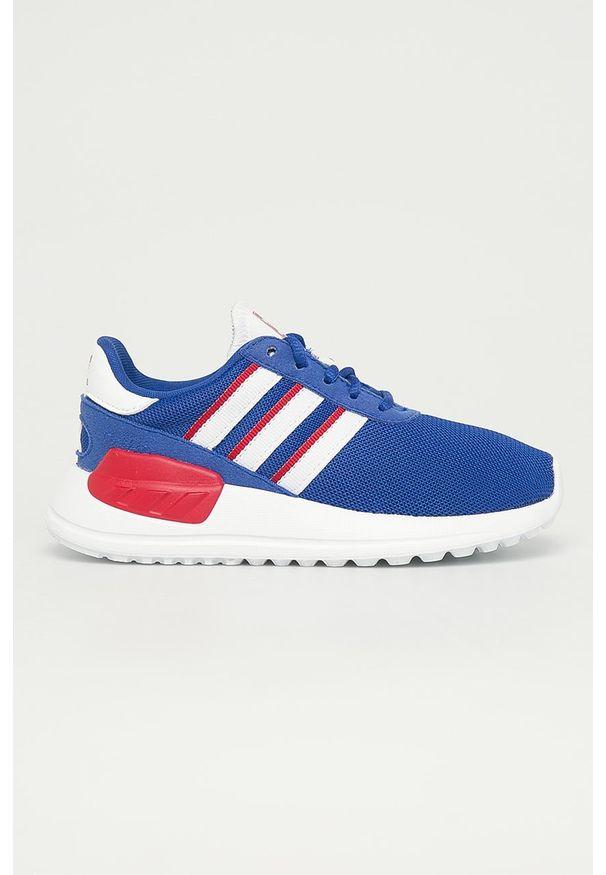 Niebieskie buty sportowe adidas Originals na sznurówki, z nadrukiem