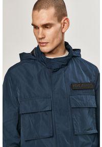 Niebieska kurtka Pepe Jeans z kapturem, na co dzień, gładkie, casualowa
