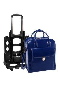 Niebieska torba na laptopa MCKLEIN casualowa