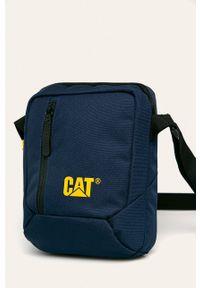 Niebieska torba CATerpillar z nadrukiem, casualowa