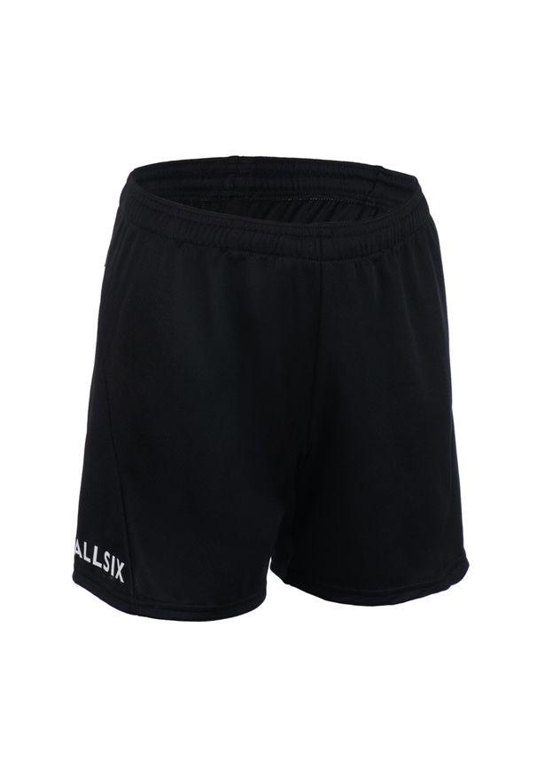 ALLSIX - Spodenki siatkarskie dla chłopców Allsix V100 czarne. Kolor: czarny. Materiał: poliester, kauczuk, materiał. Sport: siatkówka