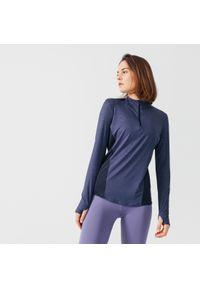 KALENJI - Koszulka do biegania z długim rękawem damska Kalenji Run Dry+. Materiał: poliester, materiał, elastan. Długość rękawa: długi rękaw. Długość: długie. Sport: bieganie