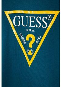 Niebieska bluza Guess Jeans bez kaptura, z nadrukiem, na co dzień, casualowa #3