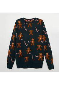 Brązowy sweter Cropp wizytowy