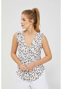 MOODO - Bluzka koszulowa z nadrukiem. Materiał: wiskoza. Długość rękawa: bez rękawów. Wzór: nadruk