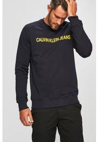 Niebieska bluza nierozpinana Calvin Klein Jeans na co dzień, casualowa