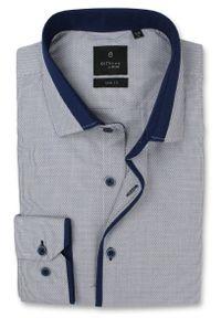 Niebieska elegancka koszula Rey Jay z długim rękawem, długa