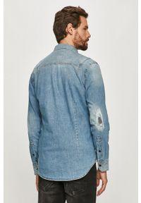 Niebieska koszula G-Star RAW długa, casualowa, na co dzień, button down