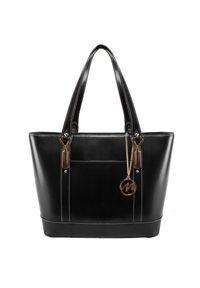 Czarna torebka MCKLEIN biznesowa, paisley, na ramię