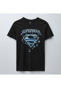 House - Koszulka SUPERMAN - Czarny. Kolor: czarny. Wzór: motyw z bajki