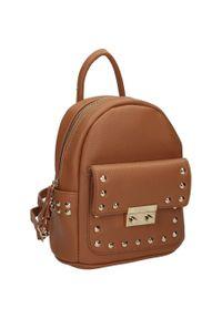 Plecak damski j. brązowy Nobo NBAG-K4110-C015. Kolor: brązowy. Materiał: skóra ekologiczna