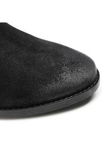 Badura - Botki BADURA - 7734-69-113 Czarny. Kolor: czarny. Materiał: skóra, zamsz. Obcas: na obcasie. Wysokość obcasa: średni