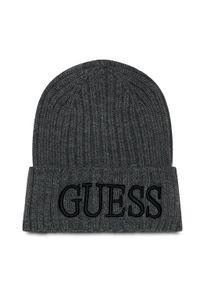 Guess - Czapka GUESS - Quarto Hats AM8724 WOL01 GRY. Kolor: szary. Materiał: wełna, materiał