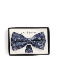 Niebieska muszka Lancerto paisley