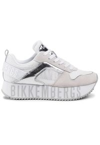 Białe buty sportowe Bikkembergs