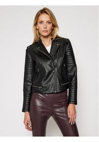 Czarna kurtka skórzana Pepe Jeans