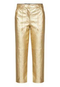 Złote spodnie Pinko