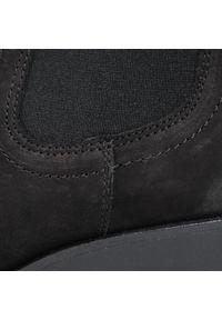 Czarne botki Lasocki na obcasie, na średnim obcasie
