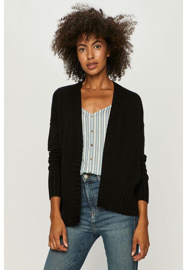 Czarny sweter rozpinany only casualowy, na co dzień