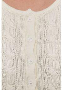 TALLY WEIJL - Tally Weijl - Kardigan. Kolor: biały. Materiał: materiał. Długość rękawa: długi rękaw. Długość: długie