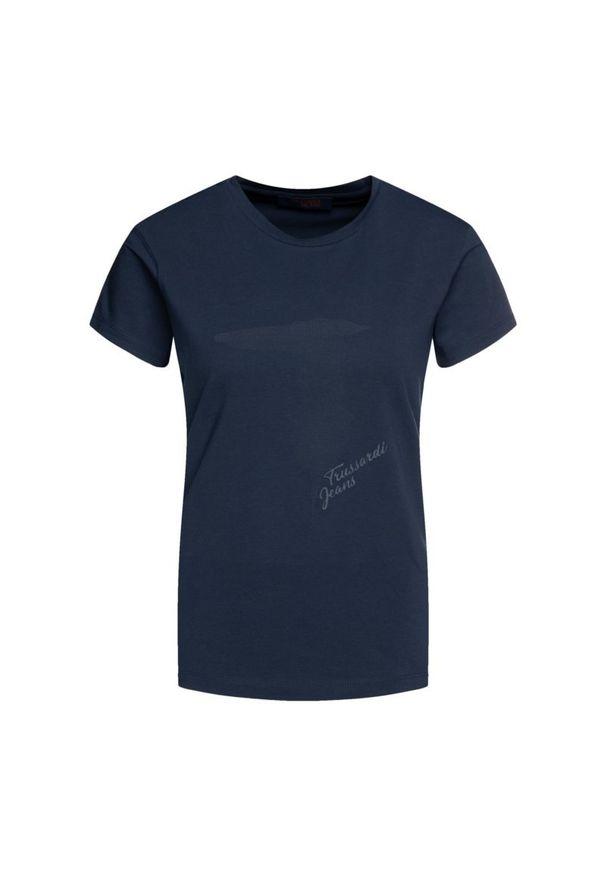 Niebieski t-shirt Trussardi Jeans