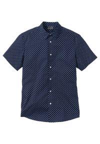 Niebieska koszula bonprix krótka, z krótkim rękawem