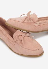 Born2be - Różowe Mokasyny Harelona. Kolor: różowy