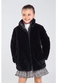 Czarny płaszcz Mayoral na co dzień, casualowy, bez kaptura
