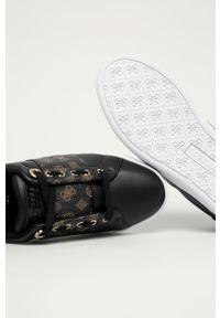 Czarne buty sportowe Guess Jeans z cholewką, z okrągłym noskiem