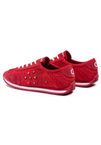 Desigual - Sneakersy DESIGUAL - Exotic 21SSKA09 3061. Kolor: czerwony. Materiał: zamsz, skóra, materiał. Szerokość cholewki: normalna. Obcas: na płaskiej podeszwie