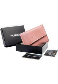 4U CAVALDI - Portfel damski różowy Cavaldi RD-DB-05-GCL-8713 WO. Kolor: różowy. Materiał: skóra