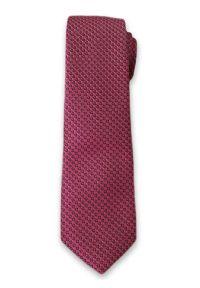 Stylowy Krawat Męski w Drobny Wzór i Delikatny Deseń - 6 cm - Alties, Różowy. Kolor: różowy. Materiał: tkanina. Styl: elegancki