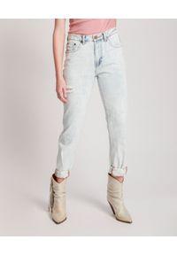 ONETEASPOON - Niebieskie jeansy Awesome Baggies High Waist. Stan: podwyższony. Kolor: niebieski. Wzór: aplikacja