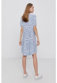 only - Only - Sukienka. Kolor: niebieski. Materiał: tkanina, wiskoza, materiał