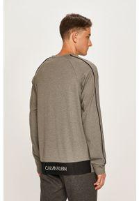 Szara bluza nierozpinana Calvin Klein Performance bez kaptura, raglanowy rękaw