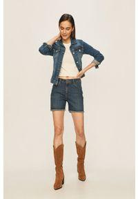 Lee - Szorty jeansowe. Okazja: na co dzień. Kolor: niebieski. Materiał: jeans. Styl: casual