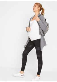 Czarny top bonprix moda ciążowa, na ramiączkach