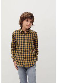 Żółta koszula Mango Kids długa, na co dzień