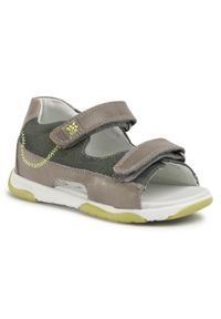 Zielone sandały Garvalin na lato, klasyczne