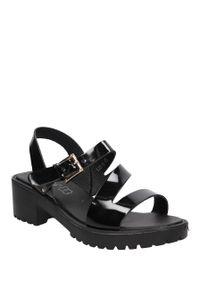 Czarne sandały S.Barski na lato